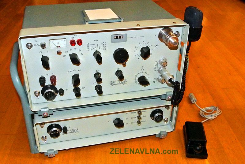SEG20  KV radiostanice RFT (Einseitenband- Sende- und Empfangsgerät SEG 20)