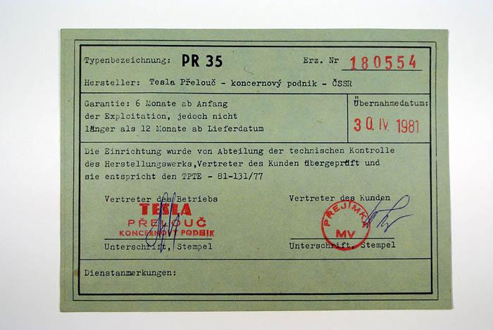 VB SNB Stb operativní spojení stanice